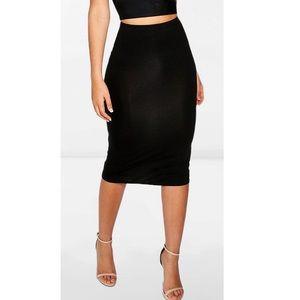 Black Midi Skirt